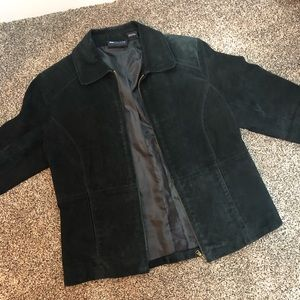 Vintage Relativity Leather Collared Simple Jacket